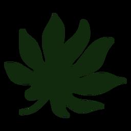 Dibujado a mano hoja tropical japonesa aralia
