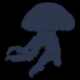 Silueta de vida marina de medusa