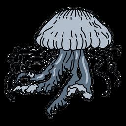 Golpe de vida marina de las medusas