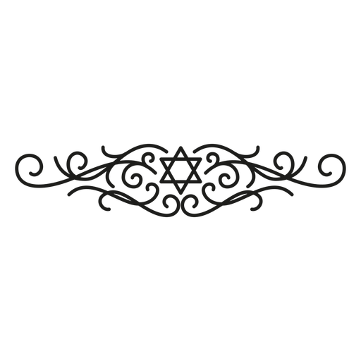 Jewish star lace design