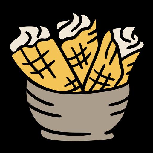 Klippedfisk tradional food norway hand drawn