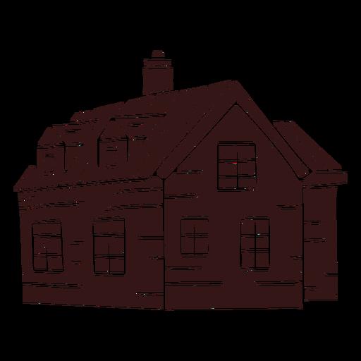 Edificio de chimenea de casa grande