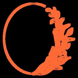 Large oval geometrical figure oval ornament frame