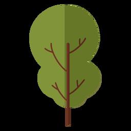 Design plano abstrato de árvore grande