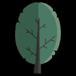 Large tree flat design