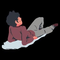 Deitado homem plana