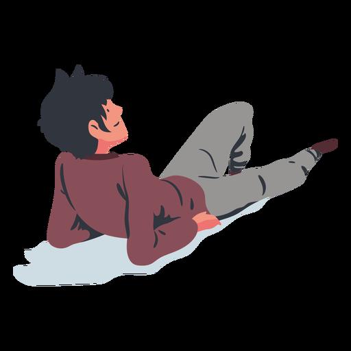 Laying man flat