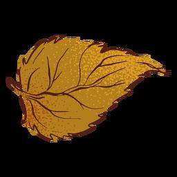 Hoja otoño otoño dibujado a mano