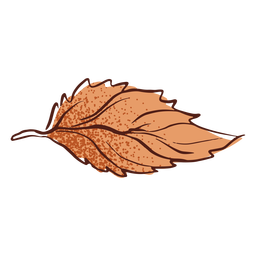 Leaf autumn hand drawn