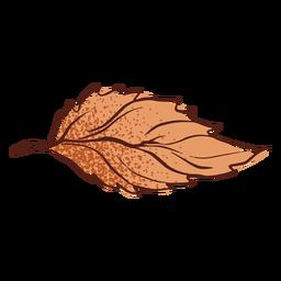 Mão de outono folha desenhada