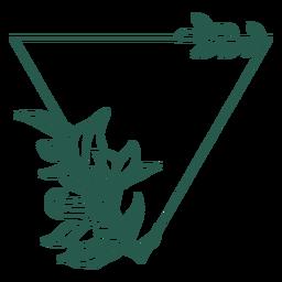 Figura triangular de vinilo con marco de hojas