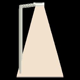 Coluna de rua de luz plana