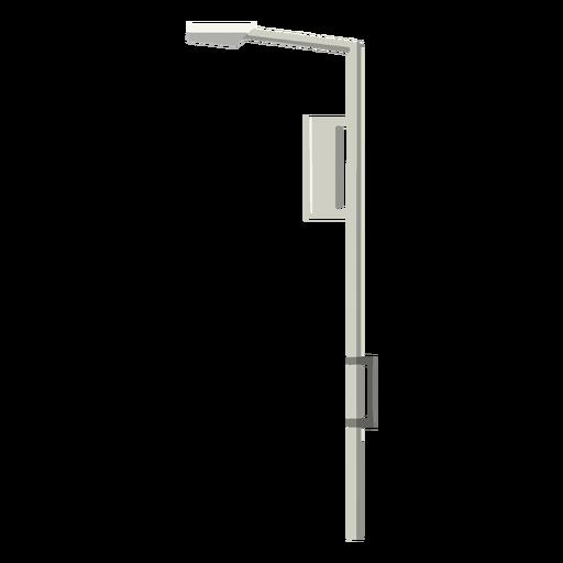 Columna de calle de luz plana