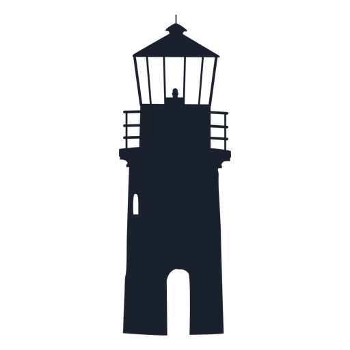 Lighthouse top silhouette