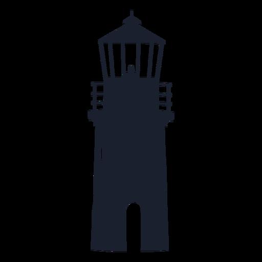 Silueta superior del faro Transparent PNG