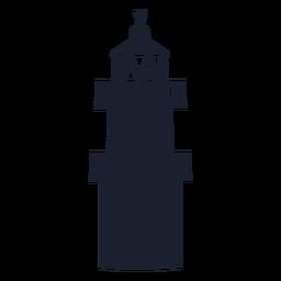 Silhueta superior do farol torre