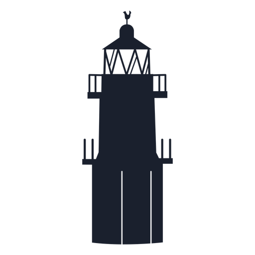 Lighthouse tower top silhouette