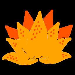 Dibujado a mano tropical flor de lirio