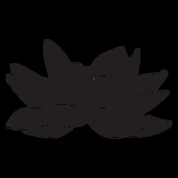 Silueta tropical de flor de lirio