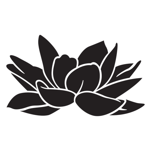 Lily flower tropical silhouette
