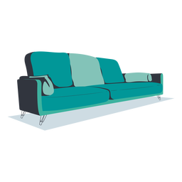Diseño plano moderno sofá