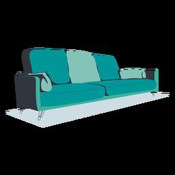 Sofá moderno de diseño plano