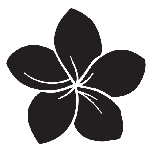 Morning glory flower silhouette Transparent PNG
