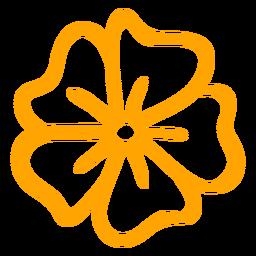 Flor tropical de ipomeia strokee