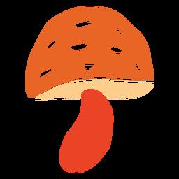 Pilz ausgeschnittene Pflanze