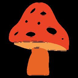 Planta de cogumelo cortada