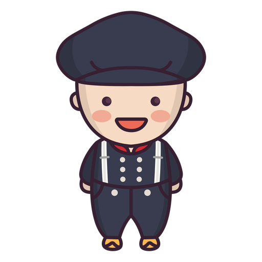 Netherlands dance male cute character Transparent PNG