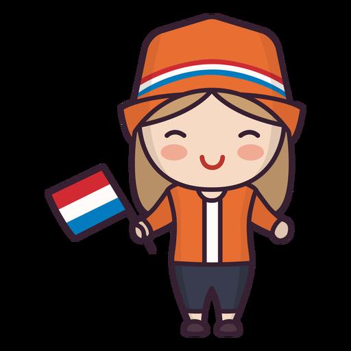 Personaje lindo de mujer joven de Holanda Transparent PNG