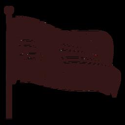 Design de bandeira de ondulação de Noruega