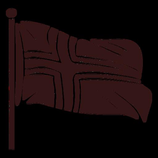 Norway waving flag design