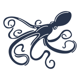 Octopus silhouette sea life