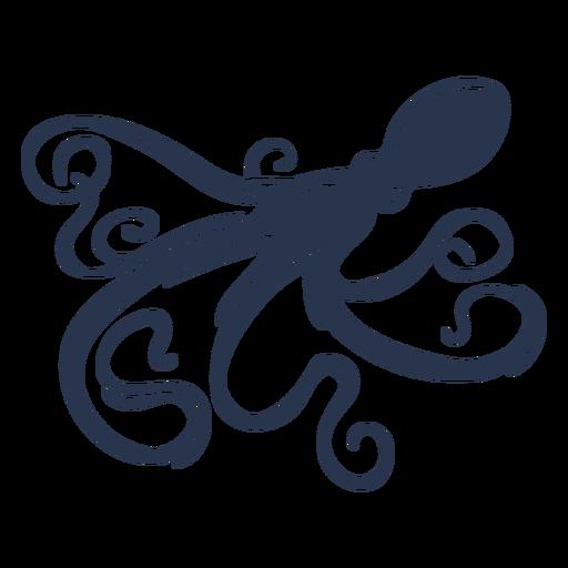 Octopus silhouette sea life