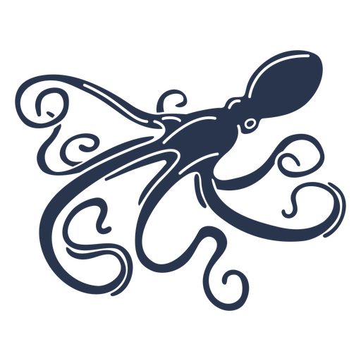 Pulpo silueta vida marina