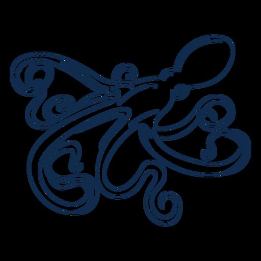 Octopus stroke animal Transparent PNG