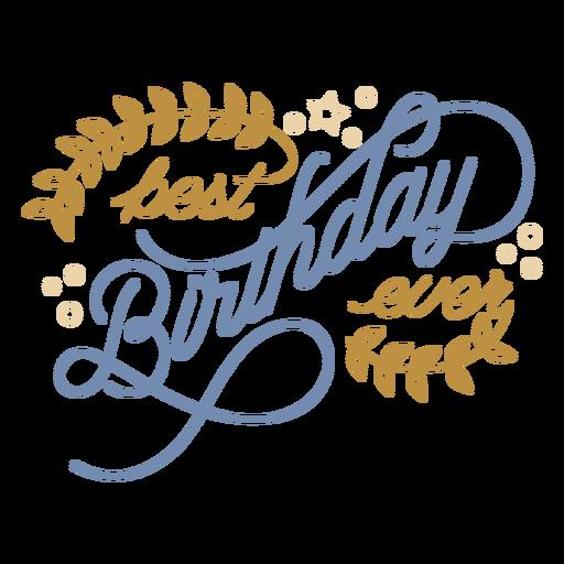 Ornament birthday congrats lettering