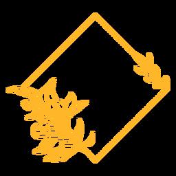 Adorno marco diseño diamante vinilo