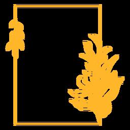 Adorno marco rectangular de vinilo