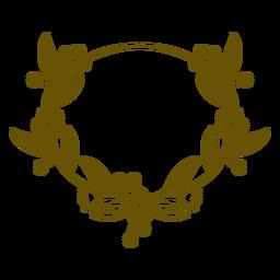 Oval flowery stroke frame