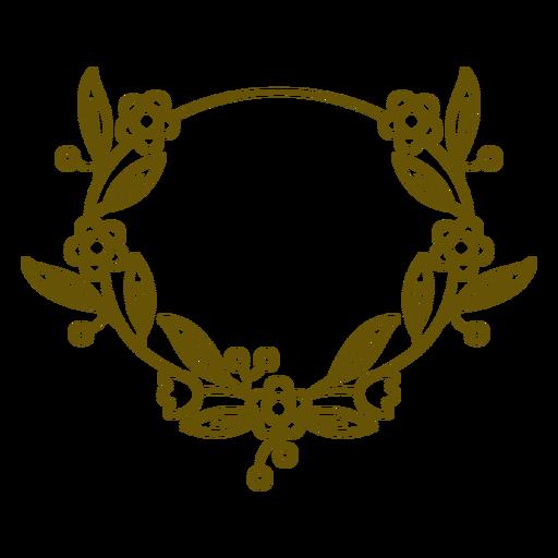 Marco de trazo floral ovalado
