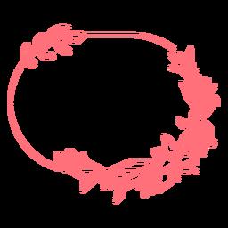 Figura geométrica ovalada adorno marco vinilo