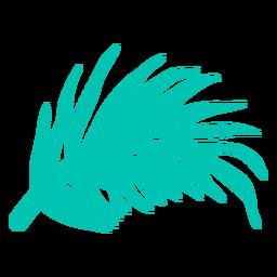 Elemento tropical em folha de palmeira