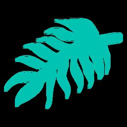 Elemento de selva de folha de palmeira