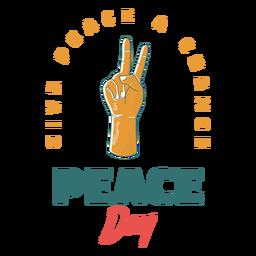 Crachá de sinal do dia da paz