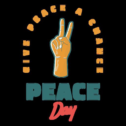Insignia del signo del día de la paz