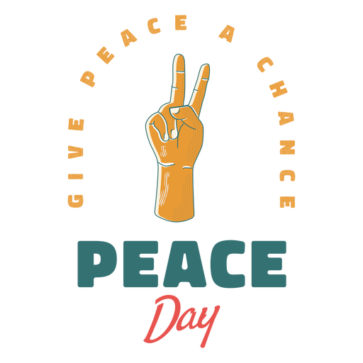 Peace day sign badge Transparent PNG