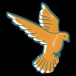 Peace dove symbol badge